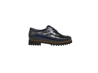 Waldlaufer 'Elisa' Lace Up Shoe In Navy